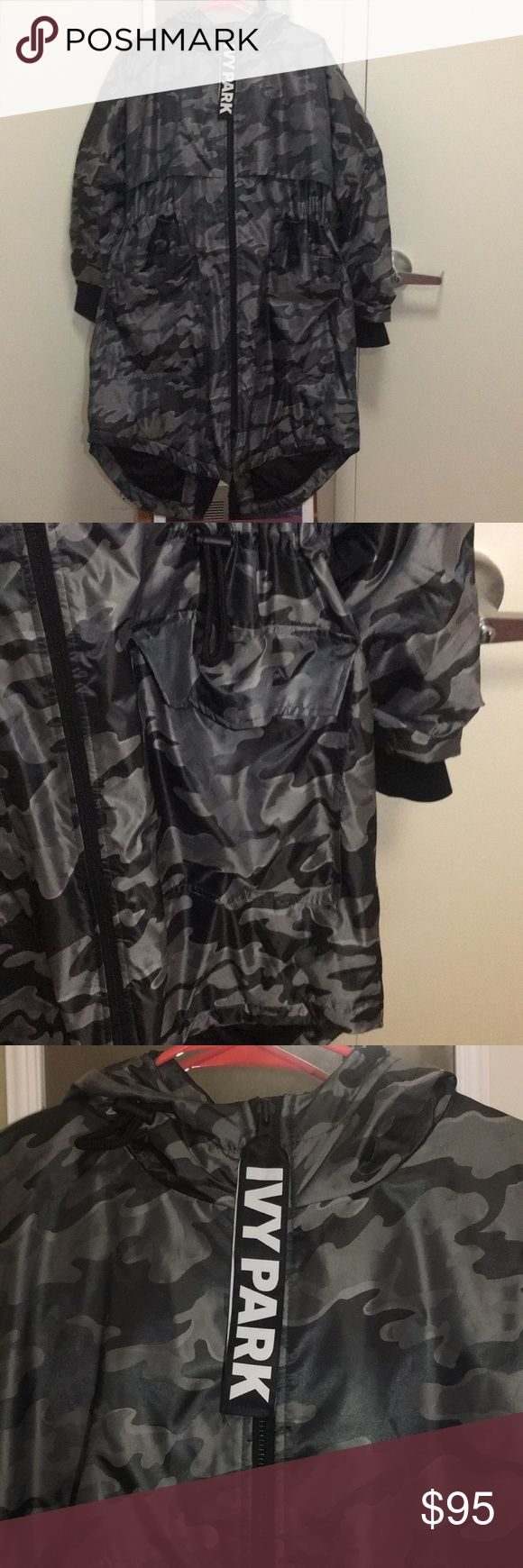 Ivy Park Rain Parka - PRICE IS NEGOTIABLE - Only worn a couple times. XS fits like a Medium. Long light-medium weight parka. Water resistant. SUPER COMFY. Ivy Park Jackets & Coats Trench Coats