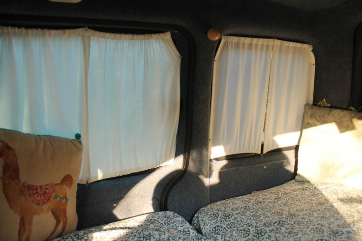 You might not believe this, but out of all the works done to the van, installing the curtains was the most time consuming process . The Kangoo has 4 lateral and 1 back windows all in weird, fiddly …