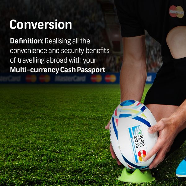 Time is running out - get your Multi-currency Cash Passport with FNB now and stand a chance to WIN a trip for 2 to the #RWC2015, courtesy of MasterCard.    Visit http://bit.ly/1HPfK1m for more information.   Competition ends on 15 August 2015. Ts & Cs apply.