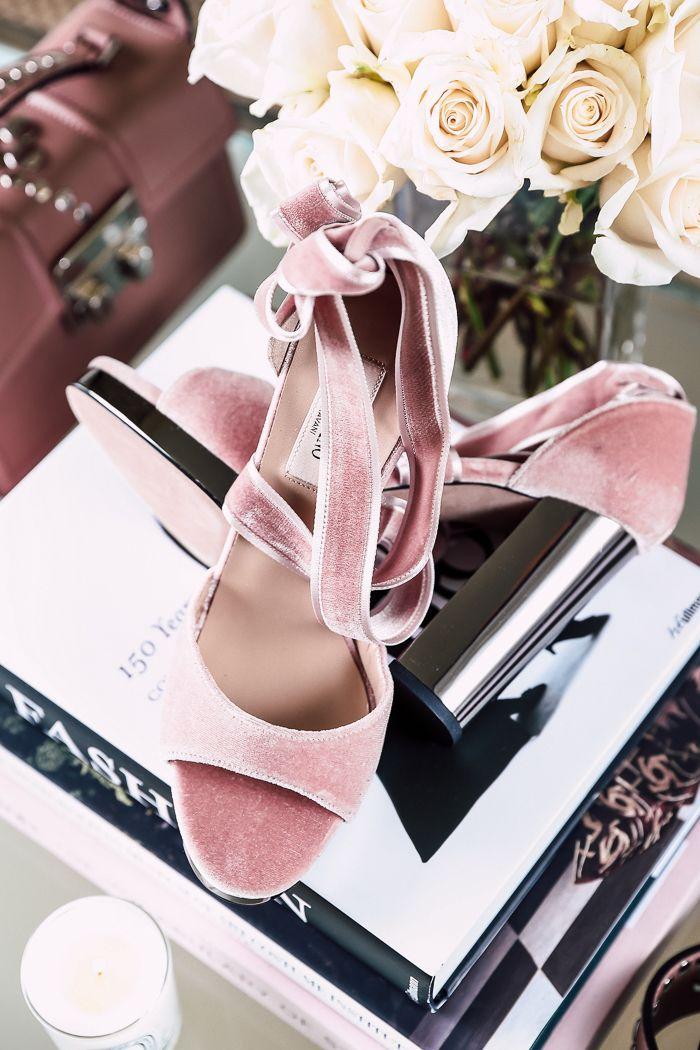 Valentino Ballet forever velvet ankle-wrap sandals in pink