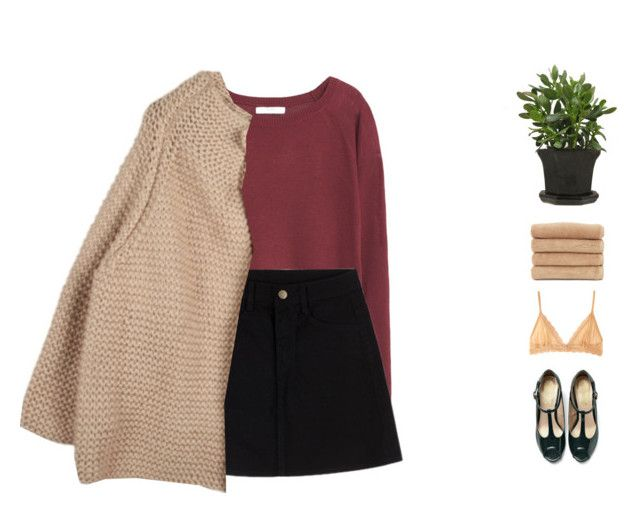 """""""Anne"""" by anastuhec ❤ liked on Polyvore featuring Linum Home Textiles, Eberjey and MANGO"""