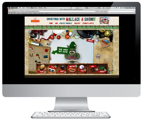 Create Yourself / Royal Mail  Artwork and design © Aardman Digital  Design and Illustration for website and game interface.