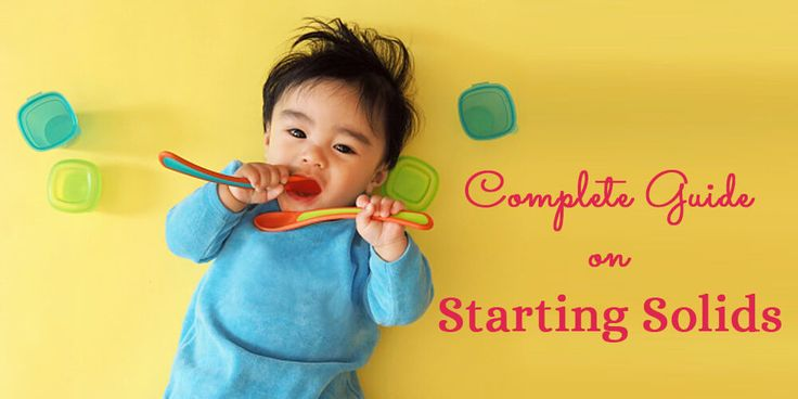 a complete guide on starting solids