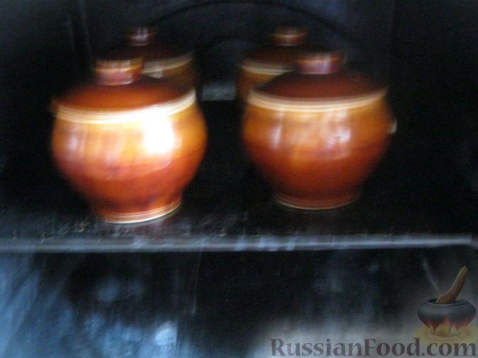 Фото приготовления рецепта: Куриное жаркое с грибами в горшочках - шаг №11