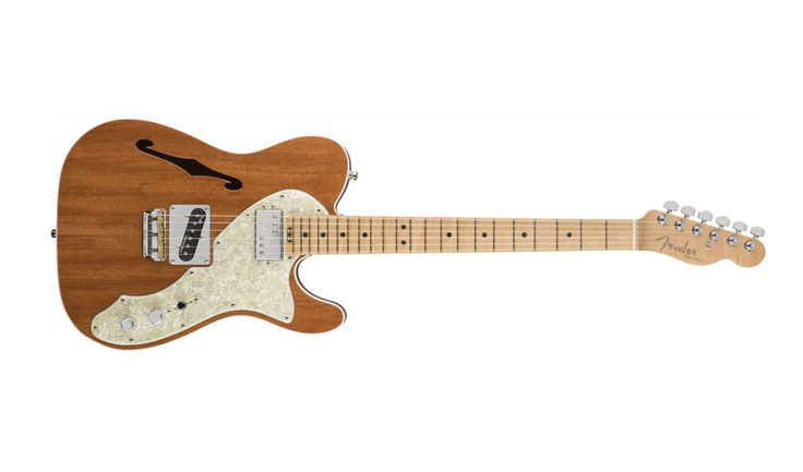 The new 2017 Limited Edition American Elite Mahogany Tele Thinline tempers the traditional Telecaster bite with the rich sound and warm look of mahogany. The model features a single 4th Gen Noiseless single-coil Telecaster bridge pickup and a fat-sounding ShawBucker Special Wind humbucking neck pickup (coil-splittable via the S-1 switch) for noise-free, high-output tone. The Elite Suspension Bridge is a unique design with a screwless mount that increases the vibration transfer, driving the…
