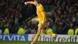 Fraser Foster (Celtic FC) FC Barcelona 1-2 Celtic. 07.11.12.