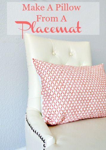 how to make a pillow from a double sided placemat