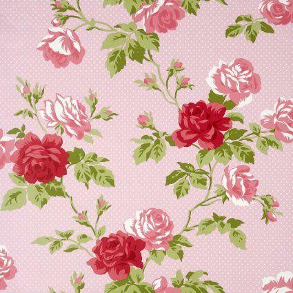 Whitewell Interiors 550633 Papier Peint R Tro Motif Fleuri Rose Cuisine Maison