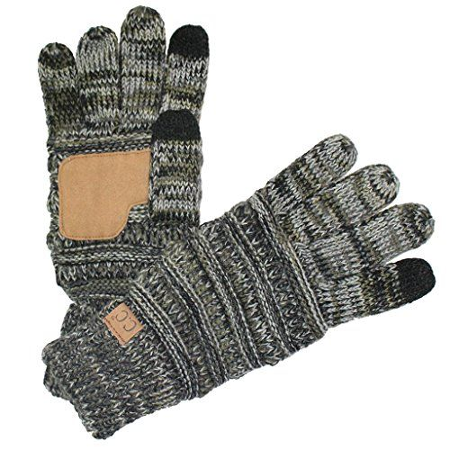 BYSUMMER C.C Smart Touch Tip Cold Weather Best Winter Gloves (#22bk/olive/grey):   BYSUMMER introduce C.C smart tip gloves!!! Smart touch tip cold weather best winter GLOVES for men and women. Enable smartphone and tablet use (including TEXTING) while keeping hands warm in cold weather. Enjoy a variety colors. It will great for all of your outfits!!