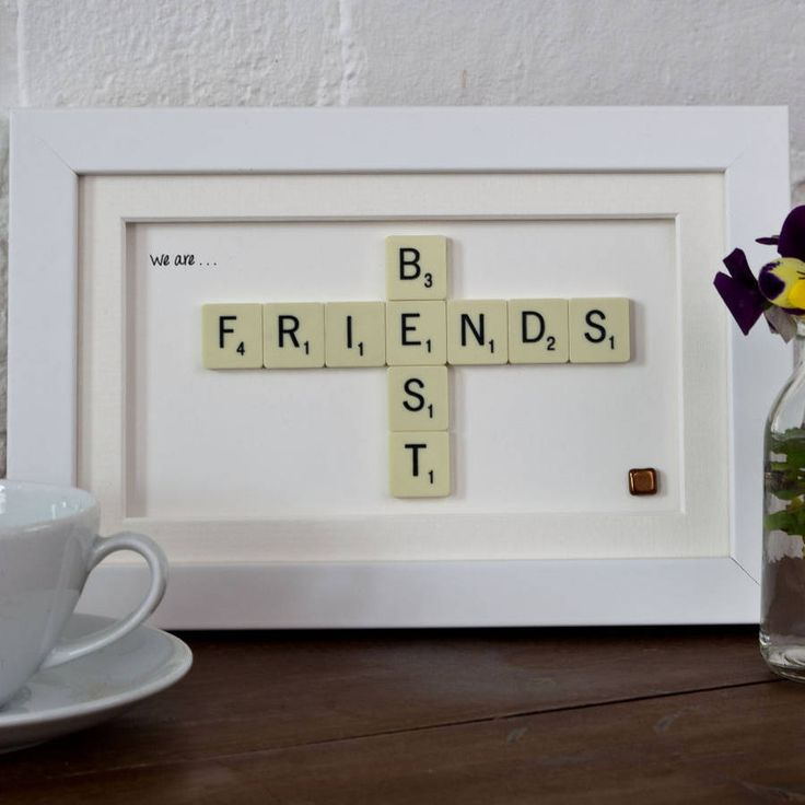 A hand-made frame, bought to life by two scrabble words. Each stunning scrabble art is made right here in my studio in Northants.You can choose from one of the designs shown or I can create a bespoke design using any two words up to 8 letters horizontally and 4 letters vertically. To make the design that extra bit special, I can also add a message in the bottom left to not only make the design unique but to reflect the feelings and reason behind the design. You can choose from one of three…