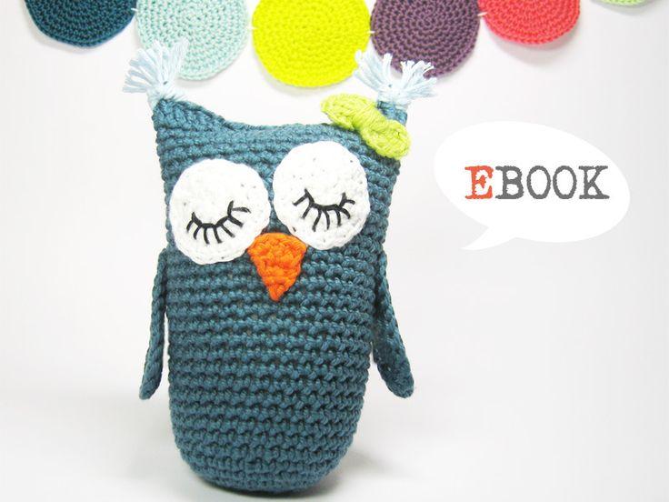 "Ebook Häkelanleitung Eule ""Klara"" // Ebook crochet-instruction for owl ""Klara"" by Lemonata via DaWanda.com"