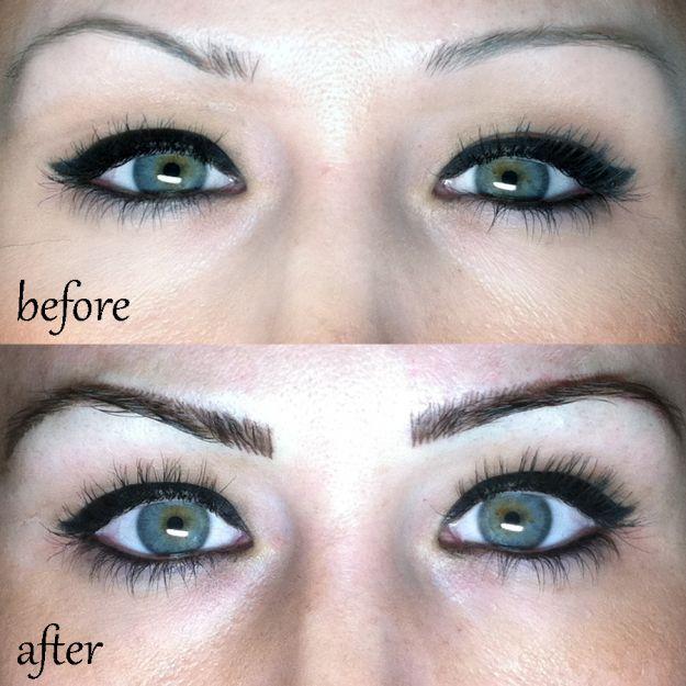 Красивый татуаж бровей ::: onelady.ru ::: #makeup #eyes #eyemakeup
