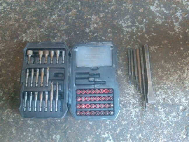 Craftsman drill bit set and craftsman roll pin punch, drift pin and chisel