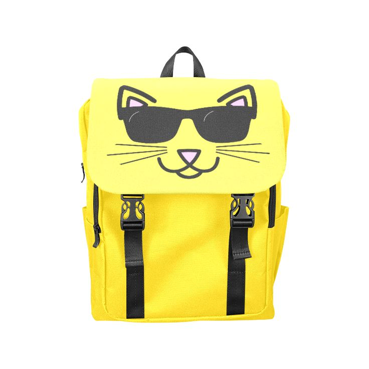Cool Cat With Sunglasses Casual Shoulders Backpack  by #Gravityx9 Designs at Artsadd for #BackToSchool