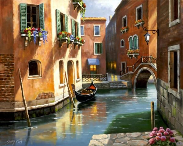Sung Kim - Venice Afternoon - art prints and posters