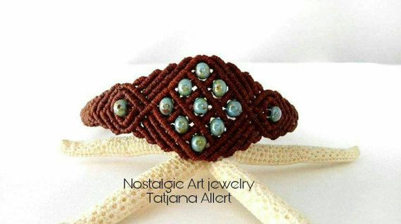 Hey, I found this really awesome Etsy listing at https://www.etsy.com/listing/490135006/macrame-bracelet-picasso-beads-ethnic