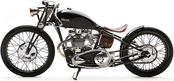 Falcon Bullet. Triumphs have become my porn. I fantasize about these bikes. Perfect for a little lady like myself.