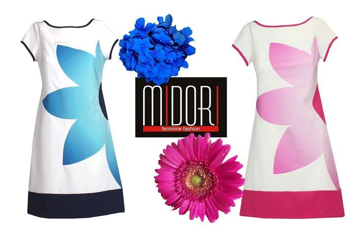 Róż czy błękit?... oto jest pytanie! Sukienka Catalyna dostępna w dwóch wersjach kolorystycznych