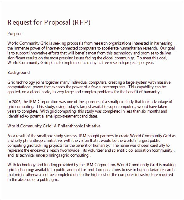 Request For Proposal Template Word New Request For Proposal Template Proposal Templates Request For Proposal Business Proposal Template