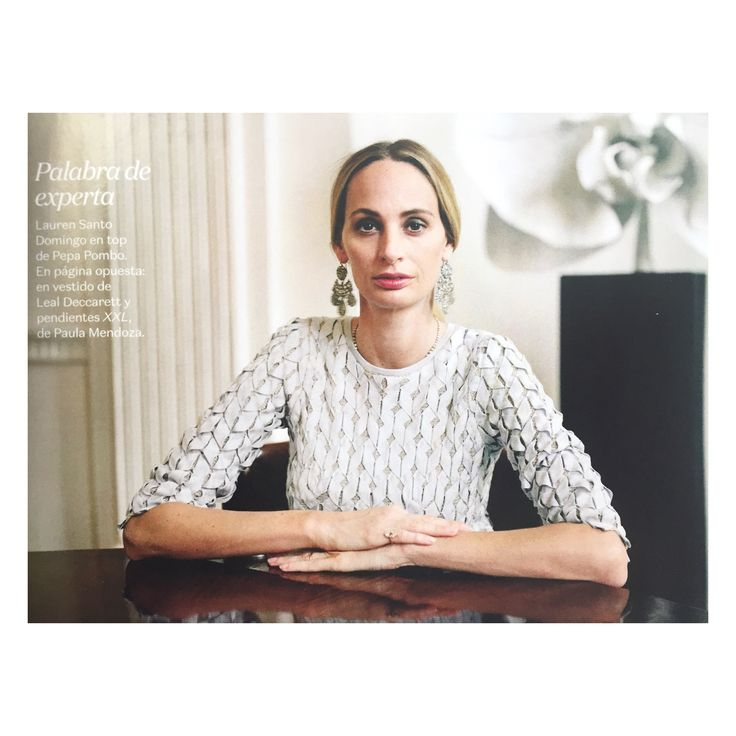 @thelsd wearing our Corcovado Blouse for this @voguemexico issue #PepaPombo #colombianfashion #ModaOperandi