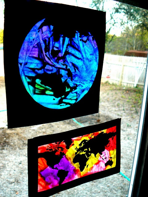 melted crayon stained glass