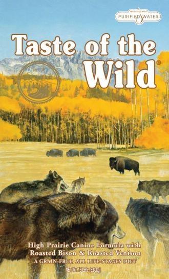 Taste of the Wild High Prairie pienso para perros. Pienso para perros: Taste of the Wild High Prairie. Alimento / Comida para perros indicada para perros de todas las razas y tamaños. Ingrediente principal: Bisonte. En Petclic ahorras mas de un 35% en todas tus compras de piensos y alimentación para perros Todas las garantías. Toda la seguridad que necesitas y mas de 5.000 productos de alimentación rebajados. www.petclic.es