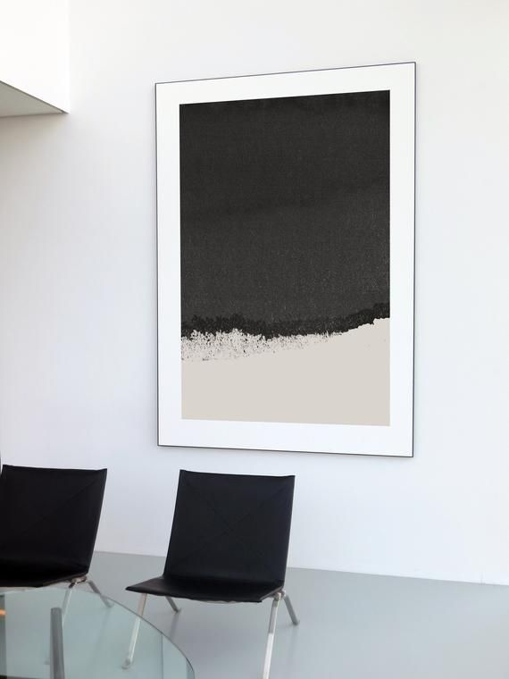 Dark Gray Print Minimalist Art Neutral Wall Art Black Print Etsy Grey Art Print Black Wall Art Grey Wall Art