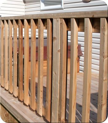 Basic Wood Railing| Fence-All