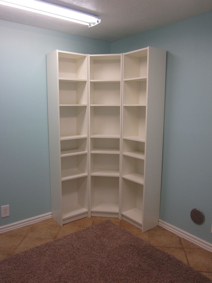 Corner Bookcase Ikea White Corner Bookshelf In 2019 Corner Closet Craft Room Storage Ikea