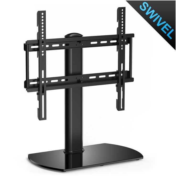 "Fitueyes Swivel Floor Stand Mount Universal Tabletop TV Stand Pedestal Base Wall Mount for 32""-50"" Tvs -TT104501GB"