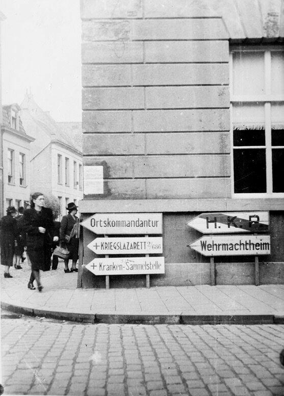 2e wereldoorlog onder Duitse bezetting, hoek Hintamerstraat/St.Josefstraat