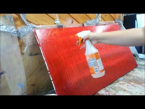 How to paint a red subtle abstract background - STEP by STEP - YouTube
