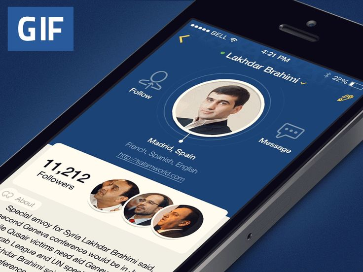 GIF – Social Network Profile by Dmitriy Chuta for Chapps