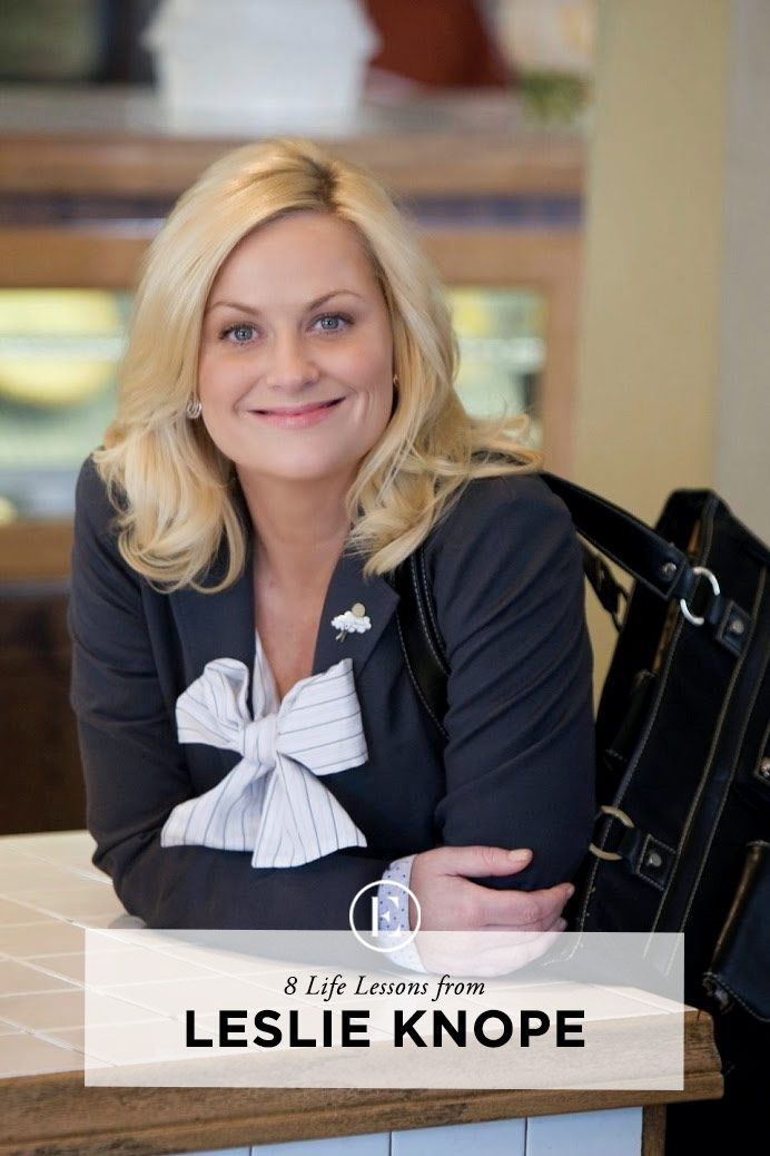 8 Life Lessons from Leslie Knope #theeverygirl // I will miss this show more than almost any other that's ended. Leslie Knope is my spirit animal! Ok maybe it's more like April Ludgate but still, Leslie is amazing!