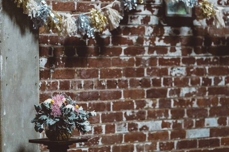 Soft pastels and exposed brick #wedding #melbourne #pastels #ceremony #decoration #missiontoseafares