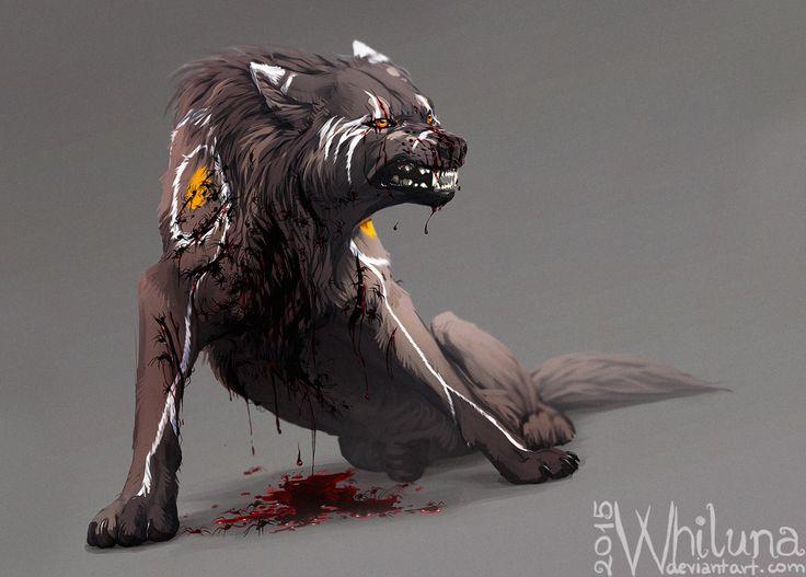 White Warg Alvis by Whiluna wound...