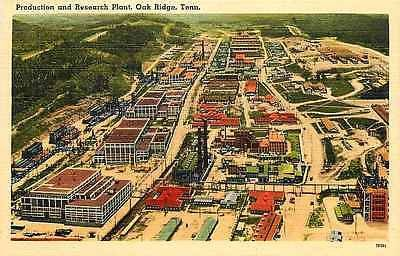 Oak Ridge Tennessee TN 1940s Aerial View #2 Production Research Plant Postcard