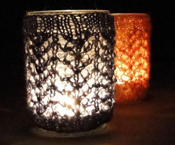 KNIT PATTERN  jar cozy for halfpint canning jar by AlpacaYarnShop, $4.00