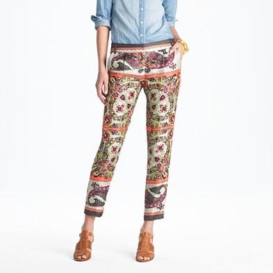 Sweet pattern.Prints Pants, Style, Clothing, J Crew, Things Jcrew, Cafes K-Cup, Kerchief Paisley, Cafes Capri, Café Capri