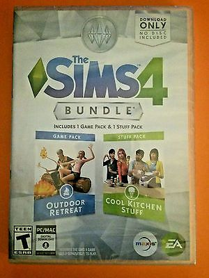 NEW - The Sims 4 Bundle Pack: Outdoor Retreat And Cool Kitchen Stuff Pack - Pc