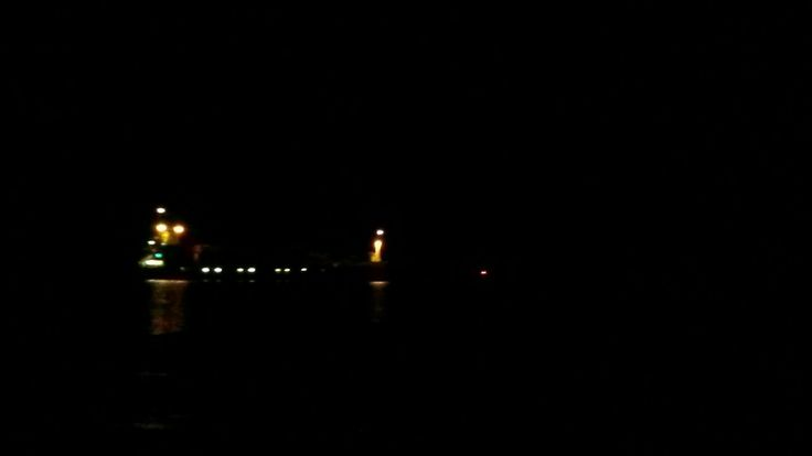 24.10.2016 Laiva saapuu Porin Mäntyluodon satamaan.