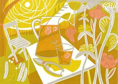 Summertime - Linocut by Clare Curtis