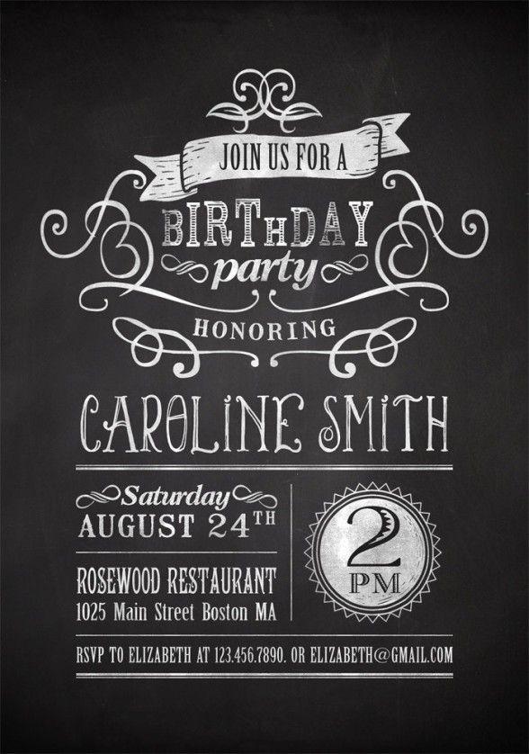 19 best Birthday invites images on Pinterest Invitations - birthday invitation for adults