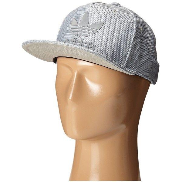 adidas Original Trefoil Reflective Snapback Cap (Stone/Grey Xeno) Caps ($28)