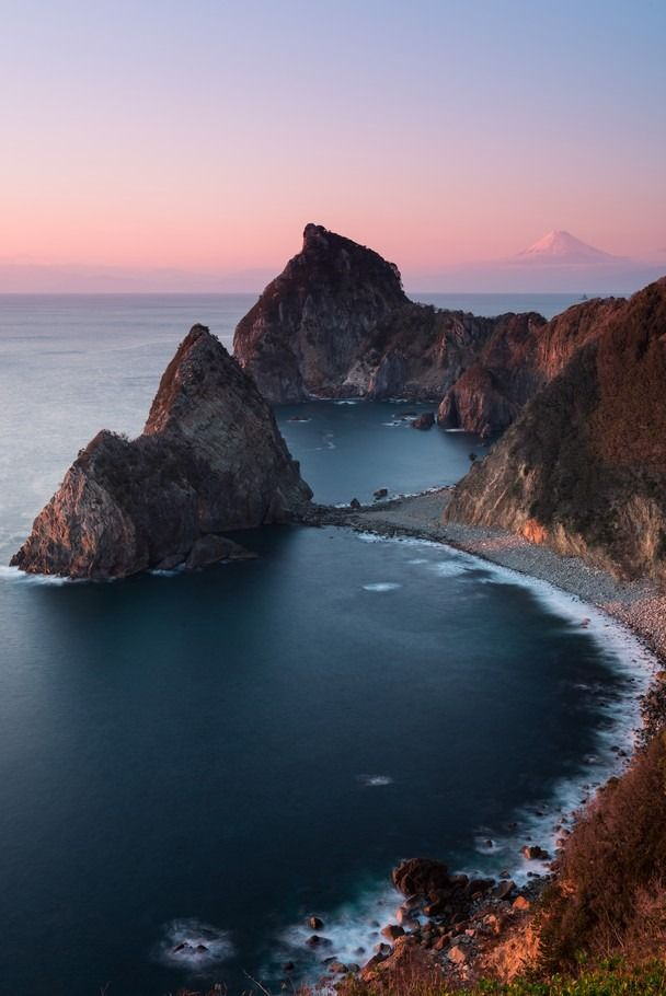 A dreamy view of the shoreline on the Izu Peninsula, Matsuzaki, Japan. Daydream with more photos from the Traveler Photo Contest » Photograph by Kenji Yamamura