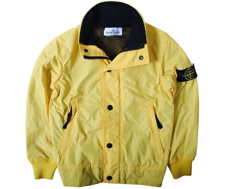 Stone Island Junior Jackets & Coats Stone Island Junior Lightweight Bomber Jacket Yellow - Terraces Menswear