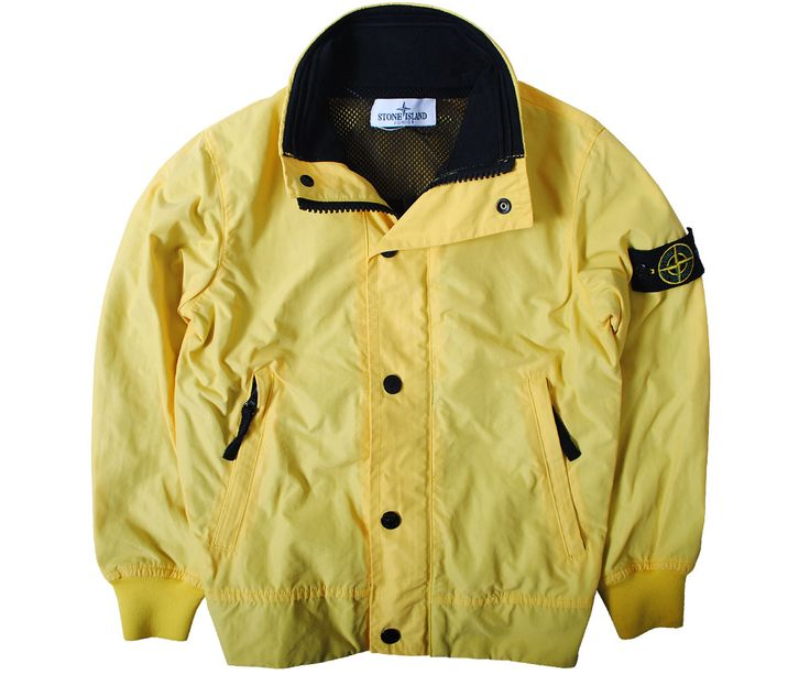 Stone Island Junior Jackets & Coats Stone Island Junior Lightweight Bomber Jacket Yellow - Terraces Menswear