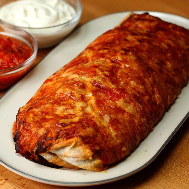 Monster Cheesy Chicken Burrito - Twisted