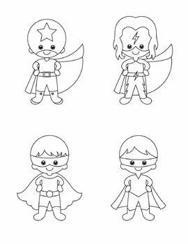Superhero Gráficos - Conjunto Completo