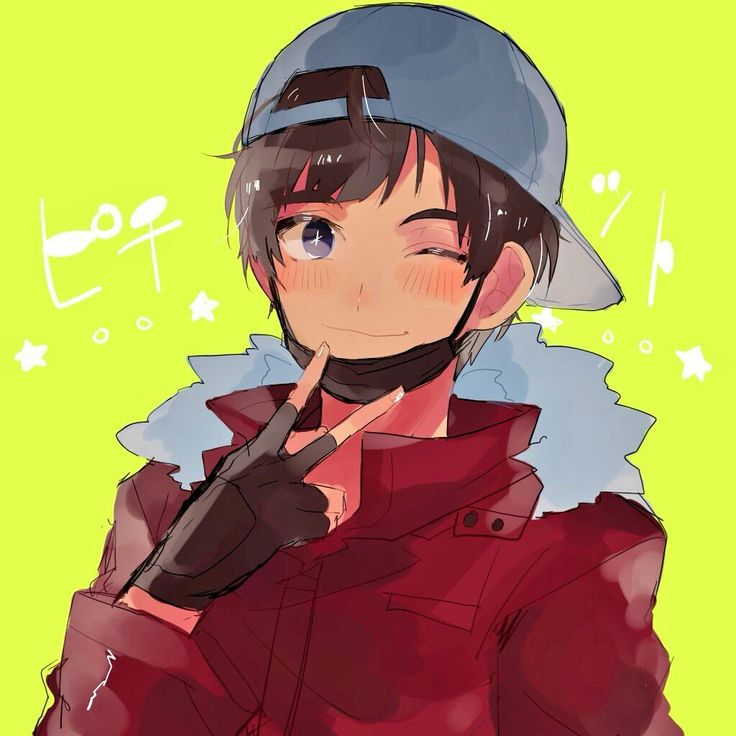 Phichit Chulanont, cute, peace sign, text; Yuri!!! on Ice